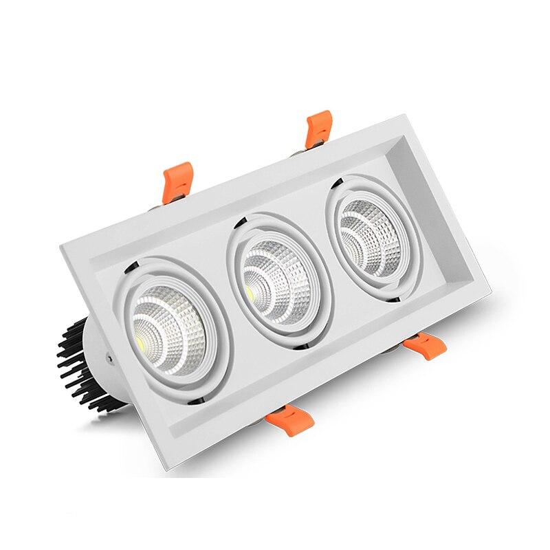 Đèn âm trần 3 bóng LED COB vỏ trắng cao cấp TL-A31-7W03