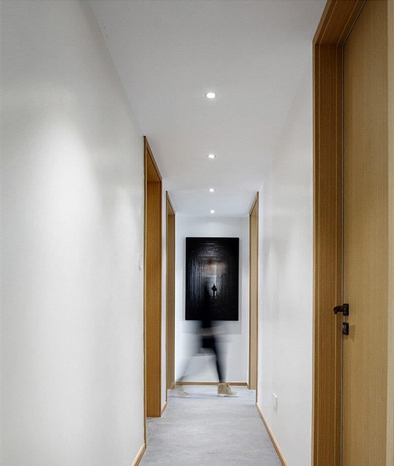 Đèn downlight tròn xoay góc LED âm trần COB 7w cao cấp hành lang