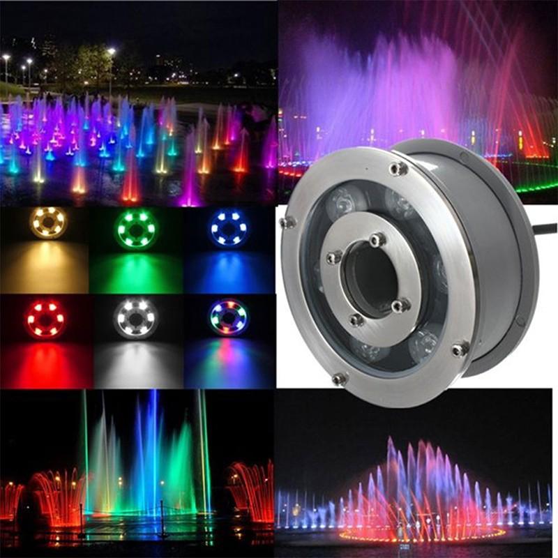 Đèn âm nước bánh xe 24v IP68 RGB cao cấp