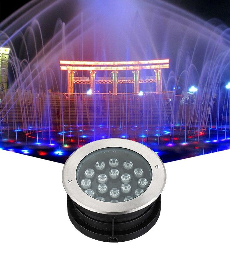 Đèn LED âm sàn chống nước IP68 chiếu sáng cảnh quan ngoài trời