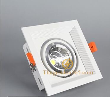 Đèn led âm trần cao cấp vuông đơn vỏ trắng viền chỉ trắng lõm 9w chip COB TLV-ACOB-002