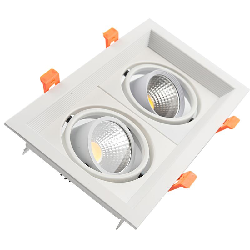 Đèn led âm trần vuông đôi 14w TL-A23-7W02