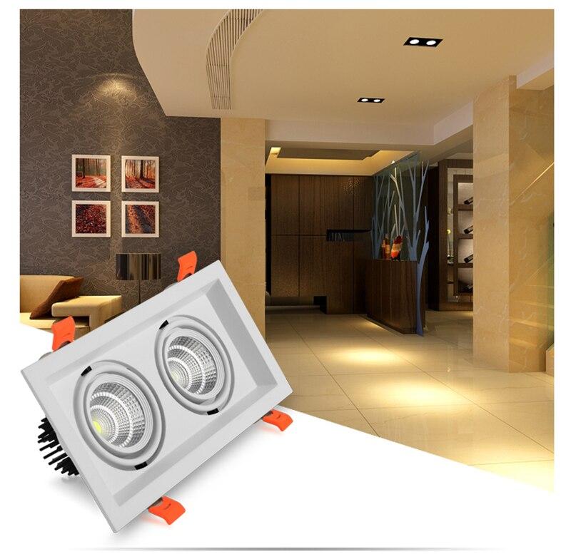 đèn downlight đôi vỏ trắng 14w trang trí