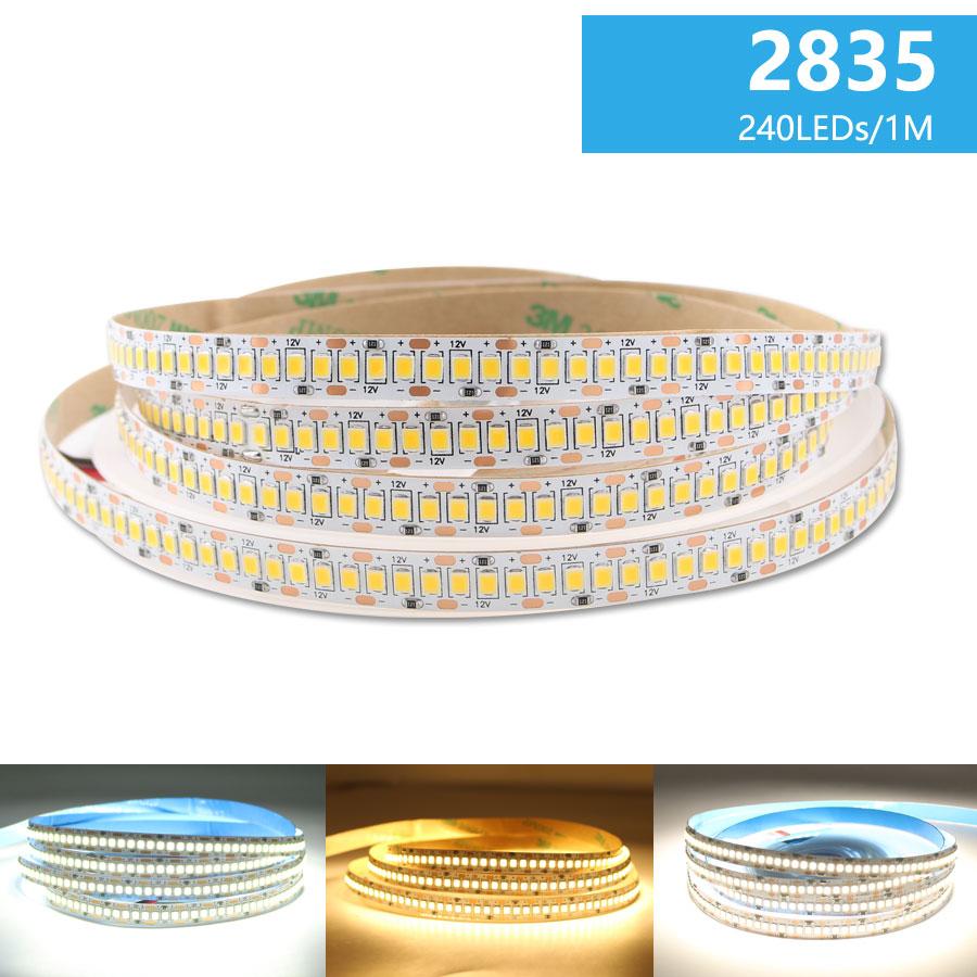 LED dây 12v cuộn 5m 240 mắt SMD2835 trang trí nội thất TLD-12V-240P