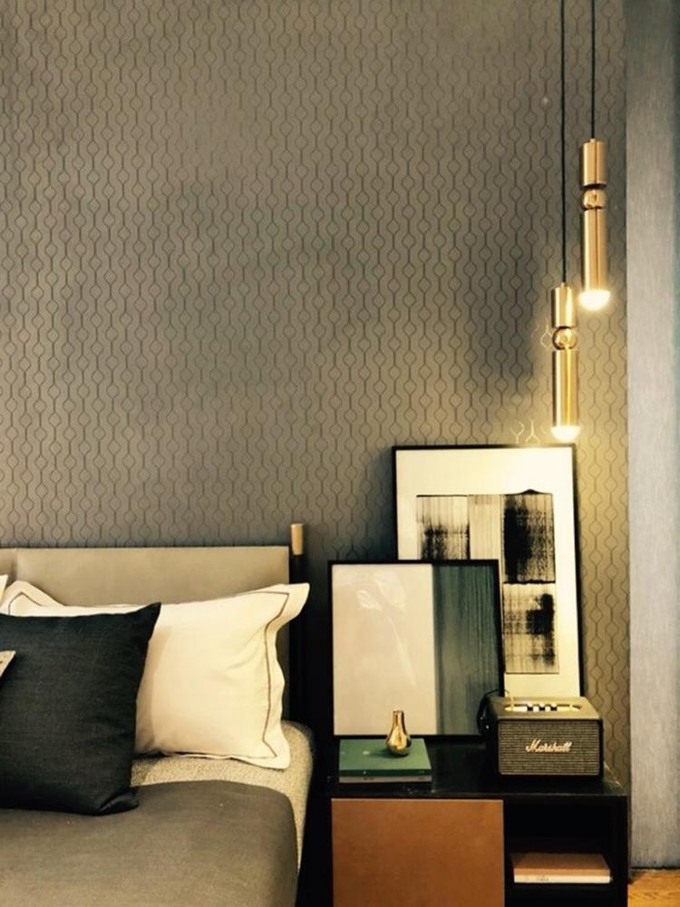 Đèn LED ống bơ vàng thả đầu giường trang trí phòng ngủ TL-DG-01GR