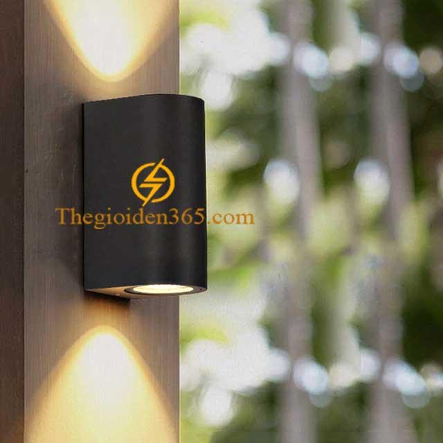 Đèn hắt tường Led 2 đầu vỏ đen trang trí nội ngoại thất DHT-2707