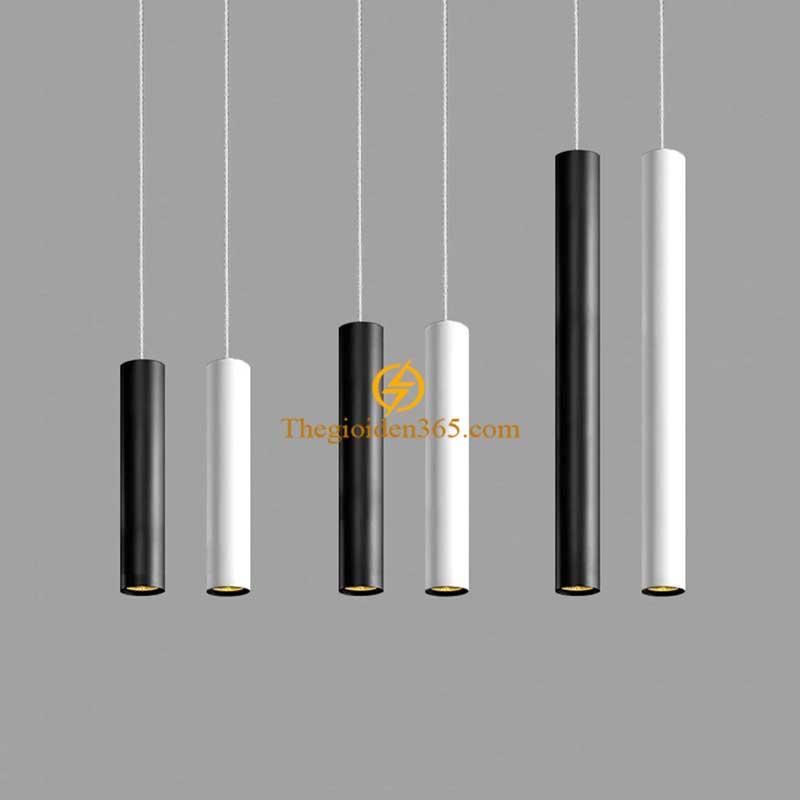 Đèn thả Led trụ tròn vỏ đen H400 12w TL-OB12W
