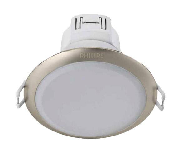 Đèn led âm trần downlight Philips 59373 ESSGLO 125 9W 27K SI viền màu bạc