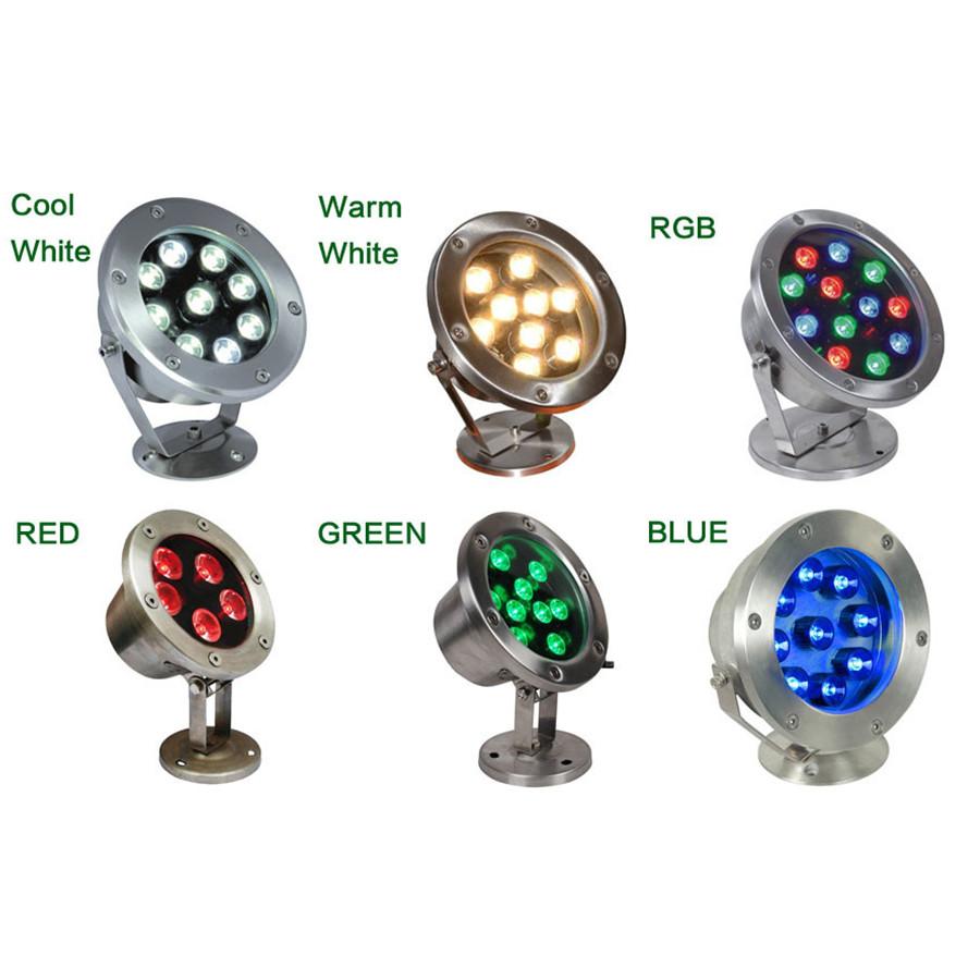 Đèn LED Âm Nước 18W IP68 cao cấp TL-UW18 nhiều màu RGB