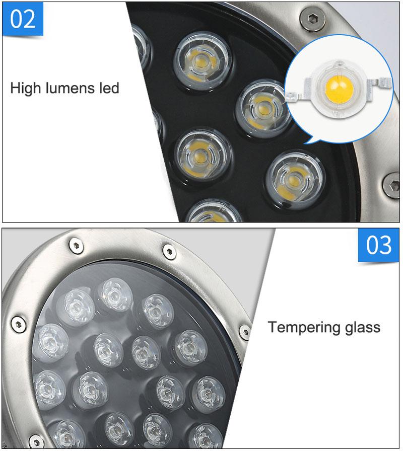 Đèn LED Âm Nước 18W IP68 cao cấp TL-UW18 Chip LED high power