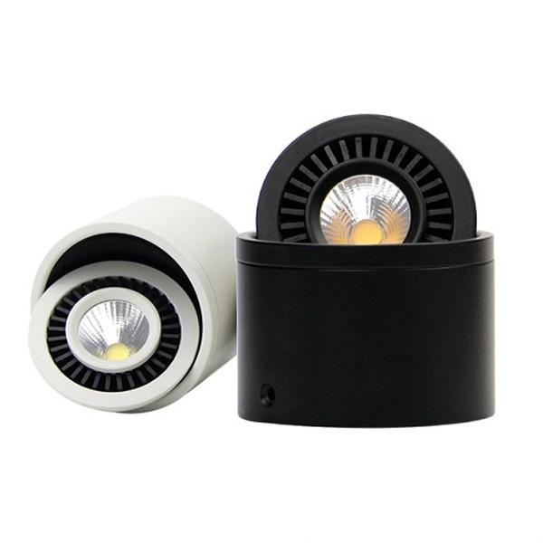 Đèn ống bơ LEB COB xoay góc 360 độ spotlight cao cấp black white