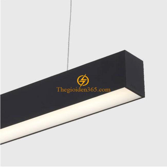 Đèn thả văn phòng Hanging 36w nhôm cao cấp vỏ đen D47 TL-DOS20-4770B