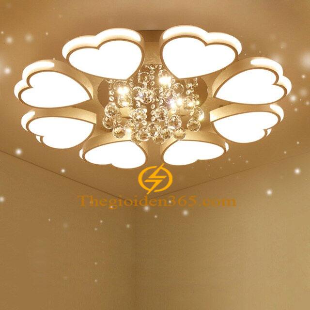 Đèn Mâm Led 8 cánh tim ốp trần trang trí Chung cư hiện đại 3 màu TL-ML08-A1