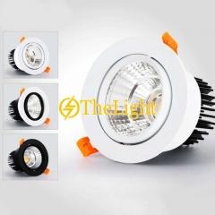 Đèn downlight tròn xoay góc LED âm trần COB 7w cao cấp TLV-ACOB-01