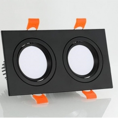 Đèn led âm trần đôi vỏ đen 14w chip COB cao cấp TLV-ACOB-02