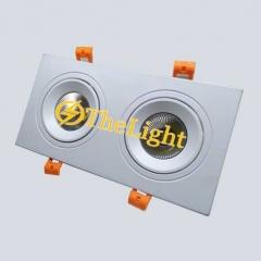 Đèn downlight đôi âm trần LED COB cao cấp 7wx2 vỏ trắng TLV-ACOB-021