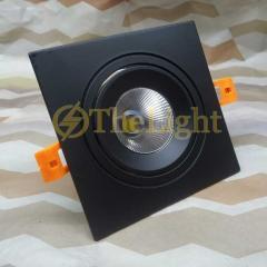 Đèn âm trần vuông downlight LED COB 7w cao cấp TLV-ACOB-011