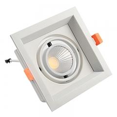 Đèn led âm trần cao cấp vuông đơn vỏ trắng viền chỉ trắng lõm 7w chip COB TLV-ACOB-7W002