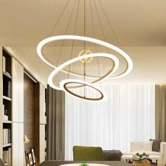 Đèn chùm hiện đại 3 vòng tròn 30-50-70 LED cao cấp TL-R3-G03
