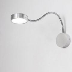 Đèn đọc sách gắn tường đầu giường cao cấp Led 5w màu bạc TL-DSB05