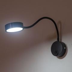Đèn đọc sách gắn tường đầu giường cao cấp Led 5w màu đen TL-DSB05
