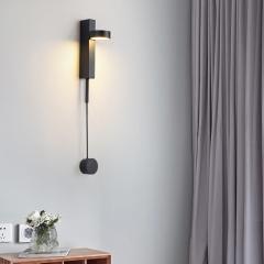 Đèn đọc sách giảm độ sáng gắn tường LED 9w vỏ đen cao cấp TL-DSM01B
