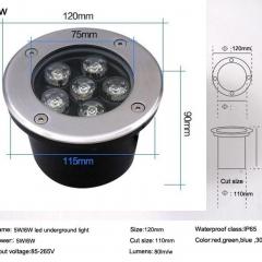 Đèn LED Âm Đất Tròn 6W IP65 ngoài trời TL-ERS06