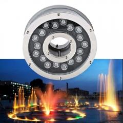 Đèn LED Âm Nước bánh xe đổi mầu 24v 18W IP68 cao cấp TL-UWBX18