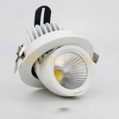 Đèn LED âm trần xoay góc 360 độ 7w vỏ trắng cao cấp D76 TL-A360-01B