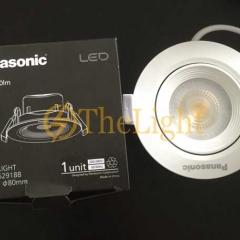 Đèn LED chiếu điểm âm trần Panasonic xoay góc 36 độ lỗ khoét 80mm downlight 3w cao cấp NNNC7631088