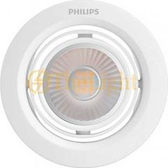 Đèn led chiếu điểm âm trần Philips 2.7W vỏ trắng xoay góc 1 trục cao cấp SL201 EC RD 070