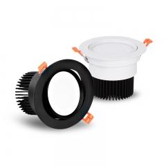 Đèn LED chiếu điểm âm trần tròn xoay góc 45 độ lỗ khoét 90mm COB downlight 10w tán quang cao cấp TLV-ACOB-01