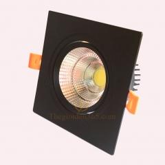 Đèn led chiếu điểm âm trần vuông đơn vỏ đen 10w chip COB cao cấp TLV-ACOB-10W02