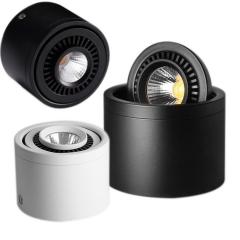 Đèn led chiếu điểm ốp trần COB 7w xoay góc 360 độ D90xH60 cao cấp TL-CD360-01
