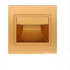 Đèn led hắt ốp chân tường gắn âm bậc cầu thang 1w vỏ vàng TL-CT01