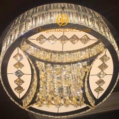 Đèn Mâm pha lê tròn ốp trần trang trí phòng khách TL-MYN-31005