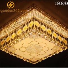 Đèn Mâm pha lê vuông ốp trần trang trí nội thất TL-MYN-5808