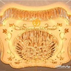 Đèn Mâm pha lê vuông ốp trần trang trí nội thất TL-MYN-5828
