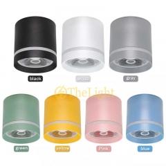 Đèn LED ốp trần tròn spotlight COB 10w vỏ nhiều màu Bắc Âu TL-OB-Color