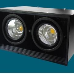 Đèn ốp trần hộp nổi đôi vuông spotlight LED COB 24w xoay góc TL-OBV-02