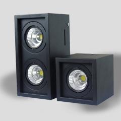Đèn ốp trần hộp nổi vuông spotlight LED COB 12w xoay góc TL-OBV-01