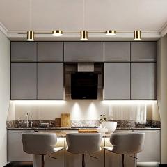 Đèn thả bàn ăn hiện đại 5 bóng LED màu vàng 3 mầu cao cấp TL-BA-01