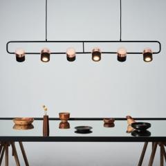 Đèn thả bàn ăn hiện đại 6 bóng LED Black Rose Gold cao cấp TL-BA-02-BG