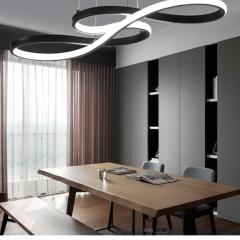Đèn thả bàn ăn nghệ thuật LED vỏ đen cao cấp TL-BA-064B