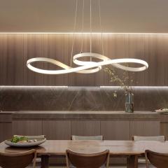 Đèn thả bàn ăn nghệ thuật LED vỏ trắng cao cấp TL-BA-064