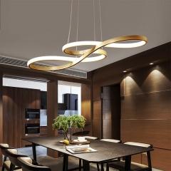 Đèn thả bàn ăn nghệ thuật LED vỏ vàng cao cấp TL-BA-064