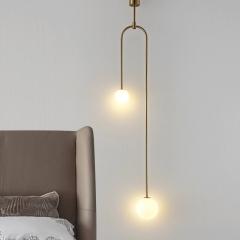 Đèn treo thả đầu giường hiện đại trang trí phòng ngủ 2 bóng LED TL-DG-03