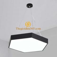 Đèn thả trần Led hình lục giác đặc D600 vỏ đen TL-DE-500