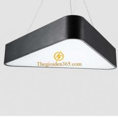 Đèn thả trần Led hình tam giác đặc D600 vỏ đen TL-DE-500TG