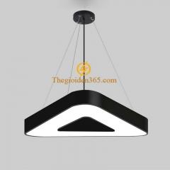 Đèn thả trần Led hình tam giác D600 vỏ đen TL-DE-500TG